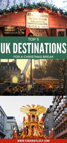Top 5 UK Destinations for a Christmas Break. Click through to read more...