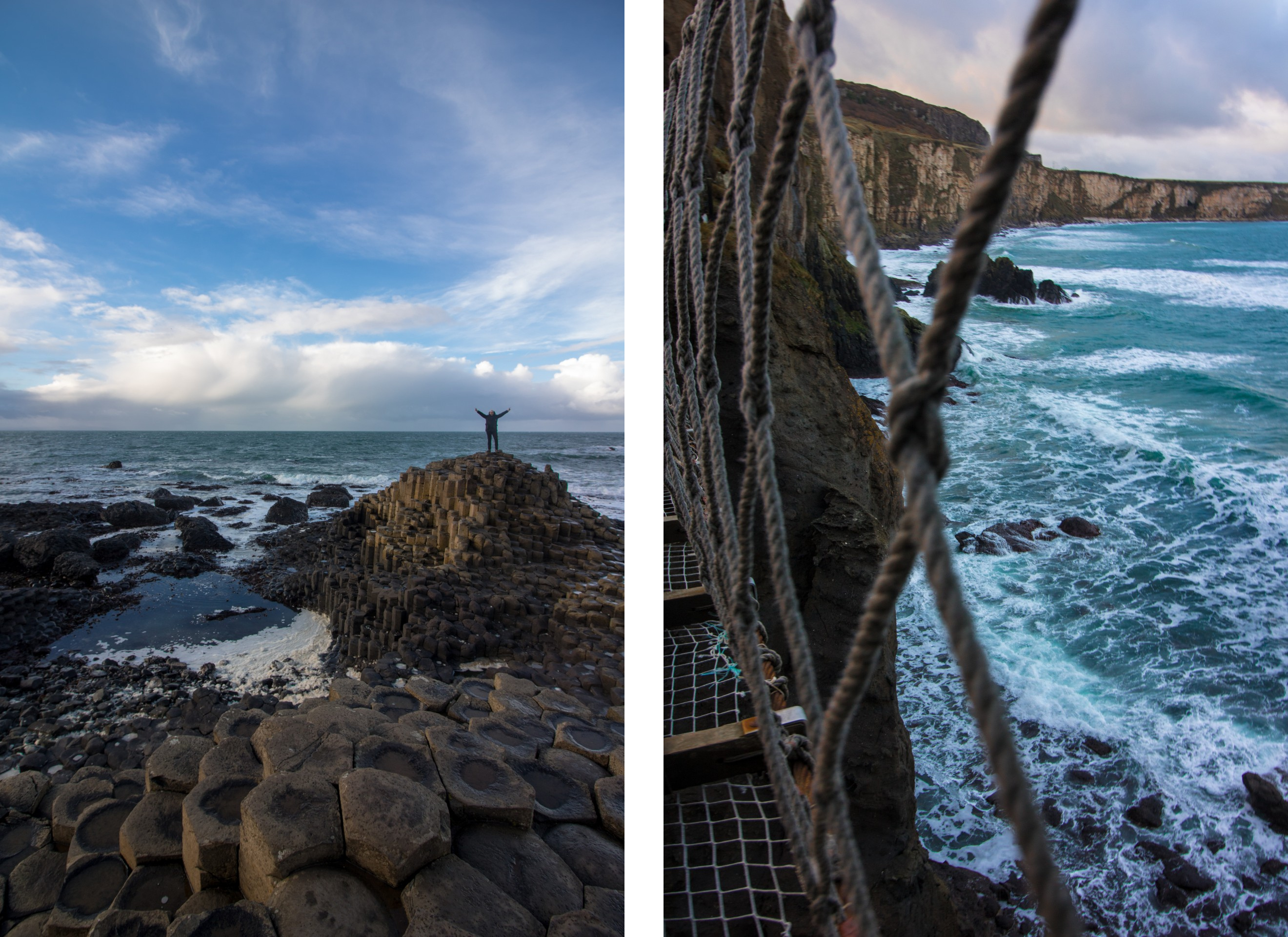person-standing-on-rock-formations-out-to-sea-at-giants-causeway-and-carrick-a-rede-rope-bridge-looking-out-to-sea