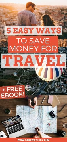 5 easy, quick and unique ways to save and earn money to travel the world and go on more holidays/vacations. Click through to read more and download the free 28 page eBook...