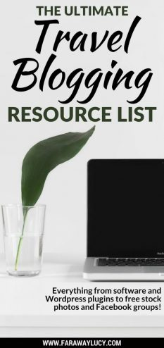 The ultimate travel blogging resource list to help you grow your blog, followers, increase your website traffic and make more money blogging. This blogging resource guide includes my favourite software, WordPress plugins, graphic and photography tools, free stock photo sites, affiliate porgrams, Facebook groups for bloggers, travel blogging conferences and so much more! Click through to read more...