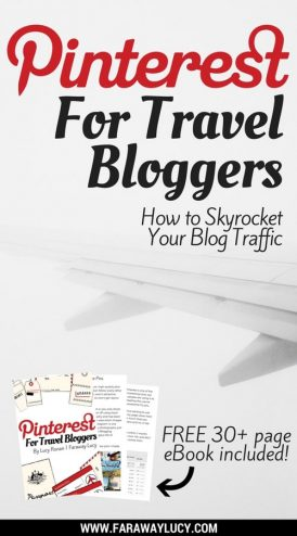 The Ultimate Guide to Pinterest for Travel Bloggers. In this free 30+ page eBook I show you how to skyrocket your blog traffic (how I increased my traffic by 6 times in my first month of using Pinterest), craft the perfect business profile, easily create beautiful pins, grow your Pinterest following and how to pin on autopilot using Tailwind. I also touch upon the importance of Pinterest SEO and how you cannot succeed on Pinterest without it. Click through to read more...