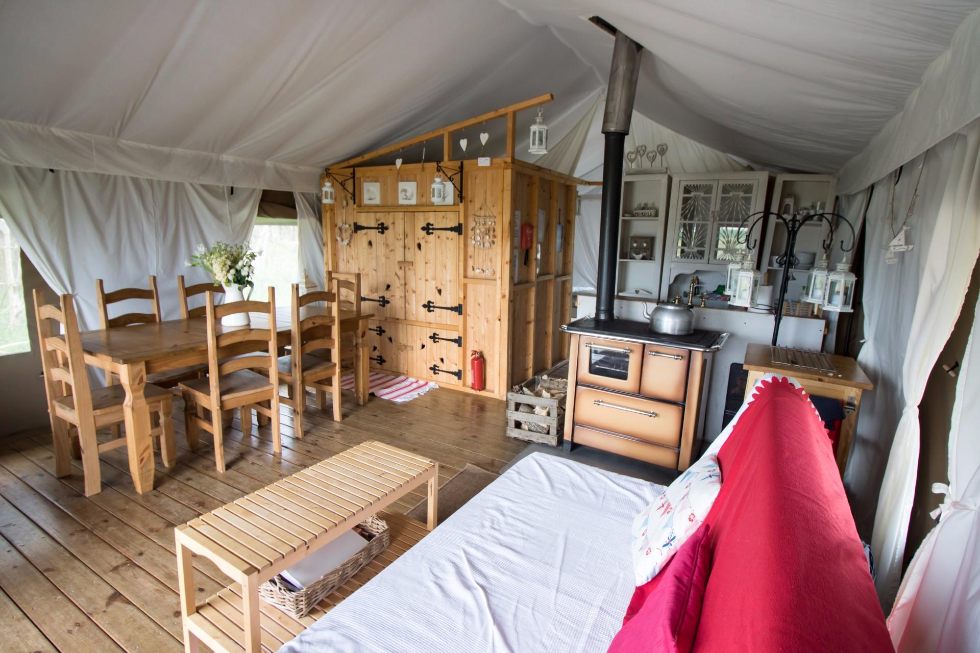 Sleeping in a Safari Tent at Harvest Moon Holidays | Faraway