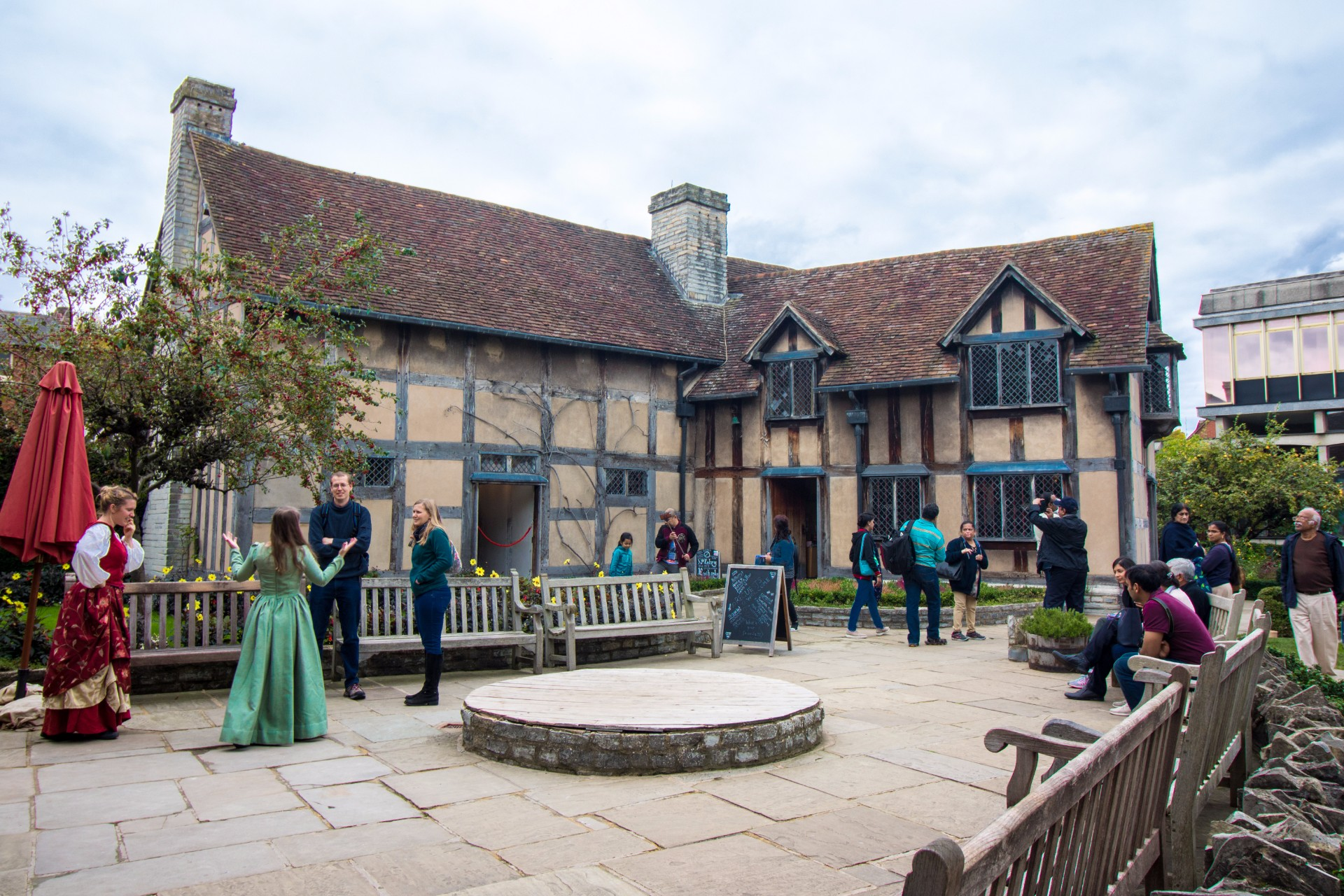 Shakespeare's Birthplace.  One Day in Shakespeare's Birthplace: Exploring Stratford-upon-Avon in the West Midlands of England. Here is the ultimate guide to visiting Stratford-upon-Avon in only one day - if you're short on time and want to tick off all the Shakespearean hotspots and most picturesque areas, you've come to the right place! These include Shakespeare's Birthplace, Shakespeare's New Place, Hall's Croft, Anne Hathaway's Cottage, Old Town, the Royal Shakespeare Company (RSC) and the River Avon. Click through to read more...