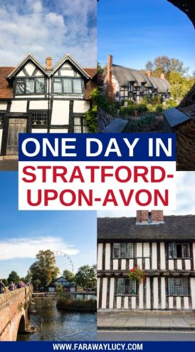 One Day in Shakespeare's Birthplace: Exploring Stratford-upon-Avon in the West Midlands of England. Here is the ultimate guide to visiting Stratford-upon-Avon in only one day -  if you're short on time and want to tick off all the Shakespearean hotspots and most picturesque areas, you've come to the right place! These include Shakespeare's Birthplace, Shakespeare's New Place, Hall's Croft, Anne Hathaway's Cottage, Old Town, the Royal Shakespeare Company (RSC) and the River Avon. Click through to read more...