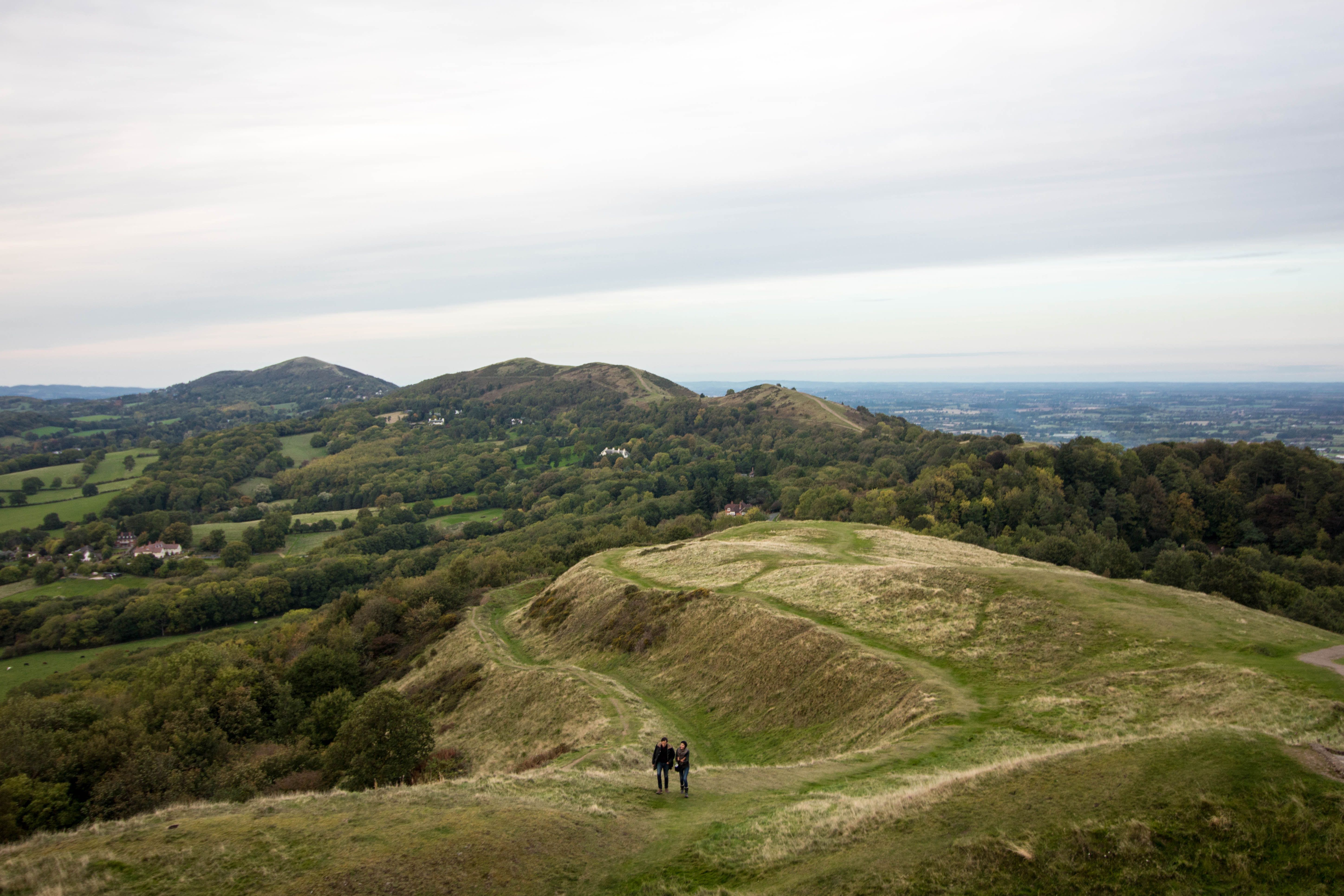 Malvern Hills Green Hill Mountain Views The Malverns Couple Walking Top 25 Things to Do in Herefordshire
