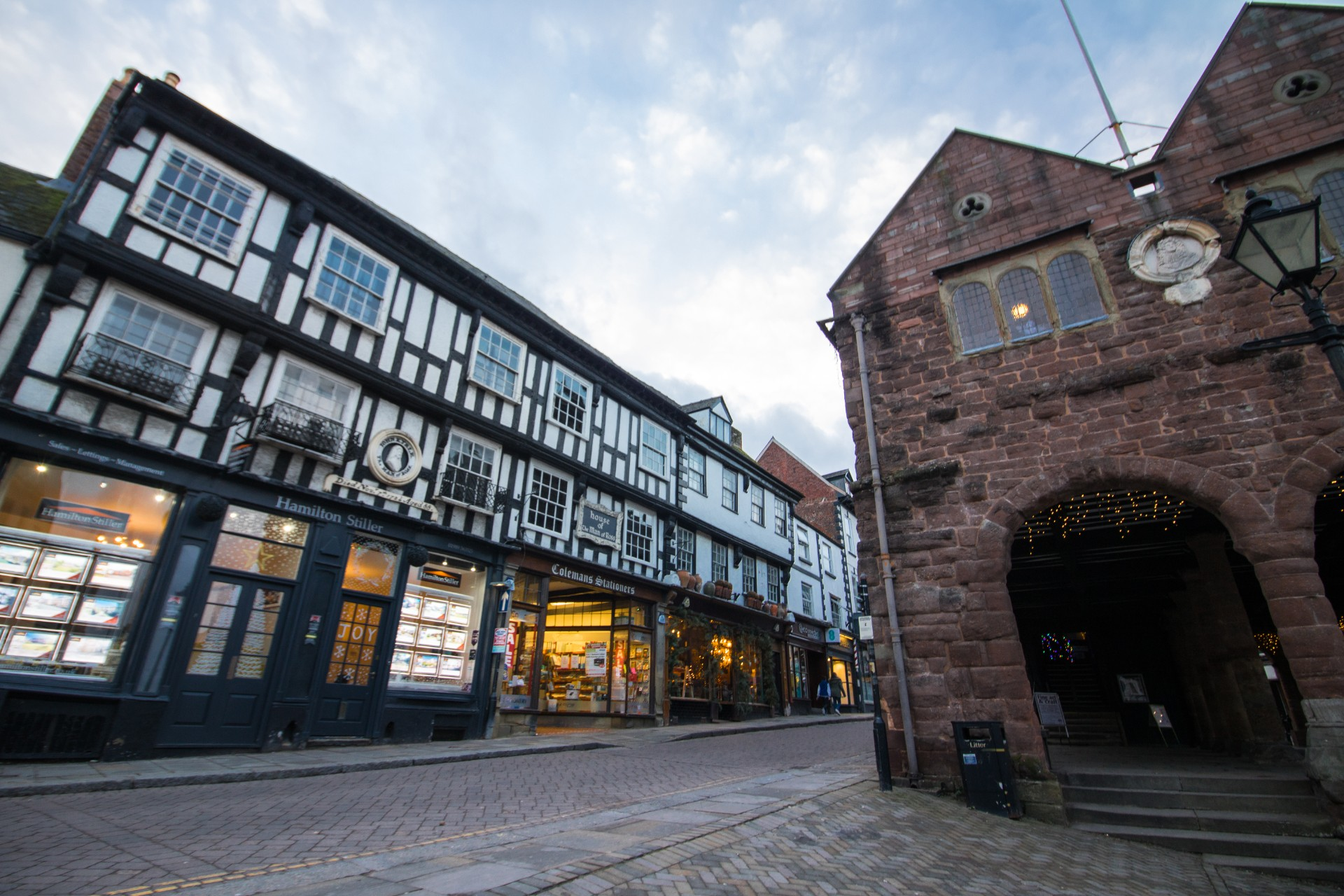 Ross-on-Wye Black and White Timber Building Old British Town Top 25 Things to Do in Herefordshire