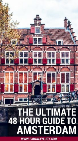The Ultimate 48 Hour Weekend Travel Guide to Amsterdam, The Netherlands, Holland. This quick, cheap guide shows you the best things to do and the places to see in Amsterdam on a budget when you're short on time. Anne Frank House, the canals, Sexmuseum, Body Worlds Amsterdam, Red Light District, Bloemenmarkt, Hortus Botanicus, De Pijp, Rijksmuseum, Van Gogh Museum, Iamsterdam Sign, Vondelpark, A'DAM Lookout. Click through to read more...