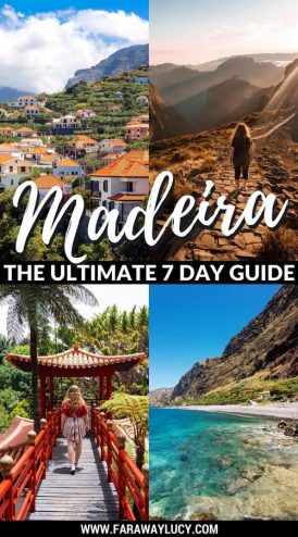 The Ultimate Seven Day Guide to Madeira Island, Portugal. What to see and do in Madeira, the Portuguese Island. Travel blog. Travel guide. Funchal. Monte. Monte Palace Tropical Garden. Wicker Toboggan Sled Ride. Santana. Porto Moniz Lava Pools. Valley of the Nuns. Nun Valley. Pico de Arieiro. Pico Ruivo. Machico. Ponta de Sao Lourenco. Porto da Cruz. Fajã dos Padres. Cabo Girão. Ribeira Brava. Ponta Do Sol. Seixal. São Vicente. Click through to read more...