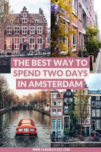 The Best Way to Spend Two Days in Amsterdam. Amsterdam in two days. 2 days in Amsterdam. Amsterdam in 2 days. Amsterdam itinerary. Amsterdam travel blog. Amsterdam city guide. Things to do in Amsterdam. What to do in Amsterdam. Things to see in Amsterdam. What to see in Amsterdam. Anne Frank House, the canals, Sexmuseum, Body Worlds Amsterdam, Red Light District, Bloemenmarkt, Hortus Botanicus, De Pijp, Rijksmuseum, Van Gogh Museum, Iamsterdam Sign, Vondelpark, A'DAM Lookout. Click through to read more..