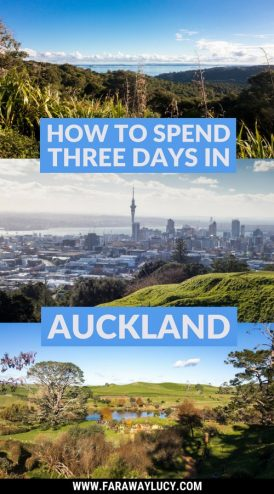 How to Spend Three Days in Auckland, New Zealand. Auckland travel guide. Auckland travel blog. What to do in Auckland. Things to do in Auckland. Easy day trips from Auckland. Mount Eden. Sky Tower. Sky Jump. Waiheke Island. Hobbiton. Click through to read more...