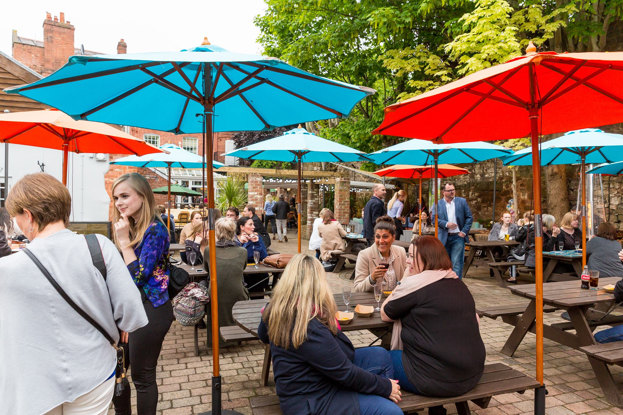 City Gate pub garden in summer Exeter Restaurants