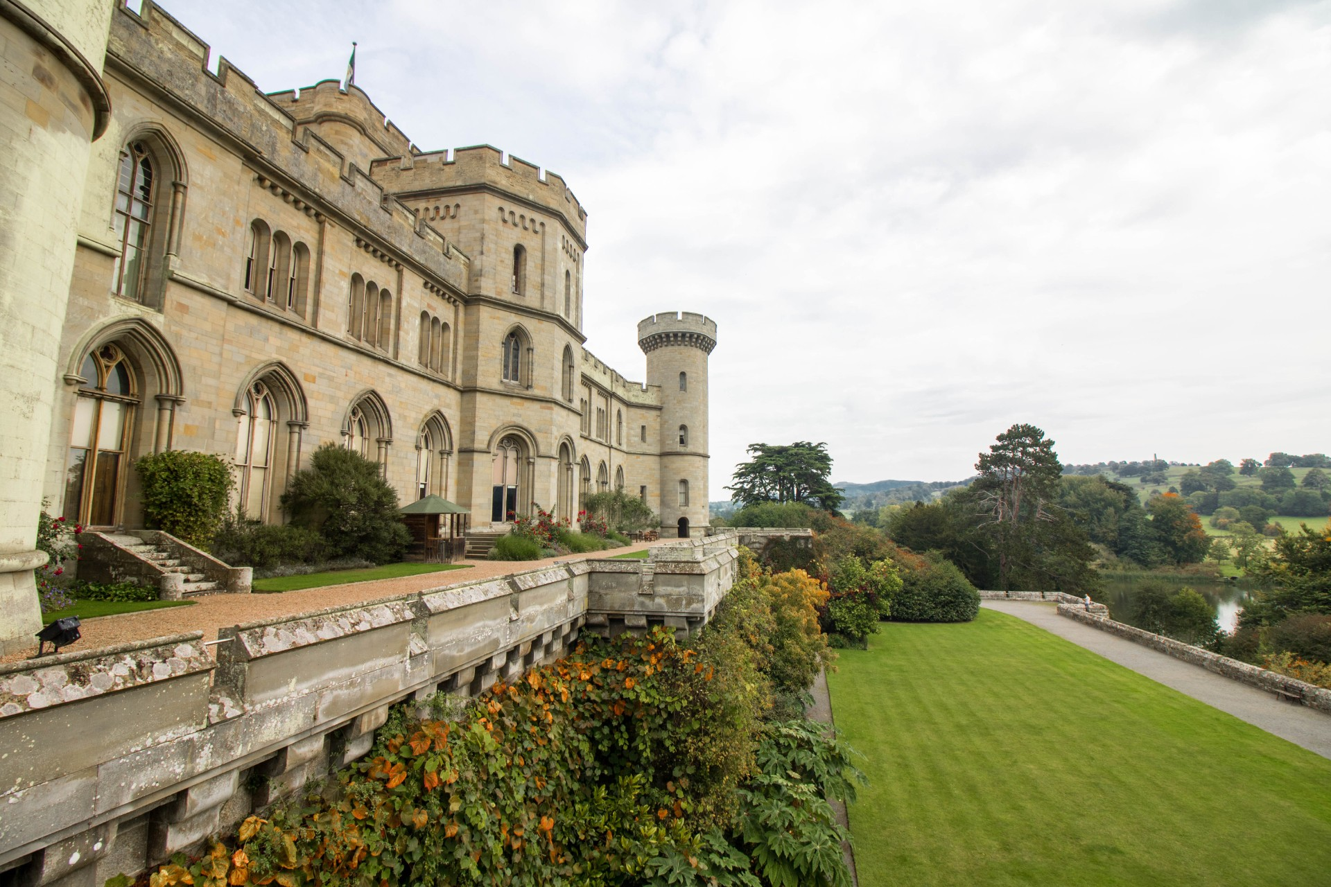 Eastnor Castle. Old British Castle. Green Lawn. Top 25 Things to Do in Herefordshire.
