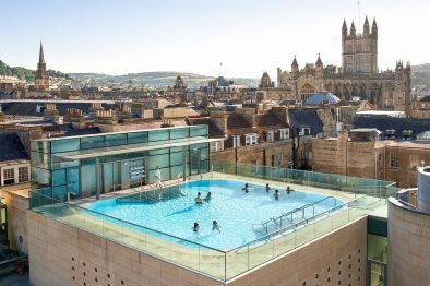 Thermae Bath Spa Heated Rooftop Pool City Views Bath Hen Do How to Spend a Weekend in Bath Romantic Travel Gift Ideas for Valentine's Day