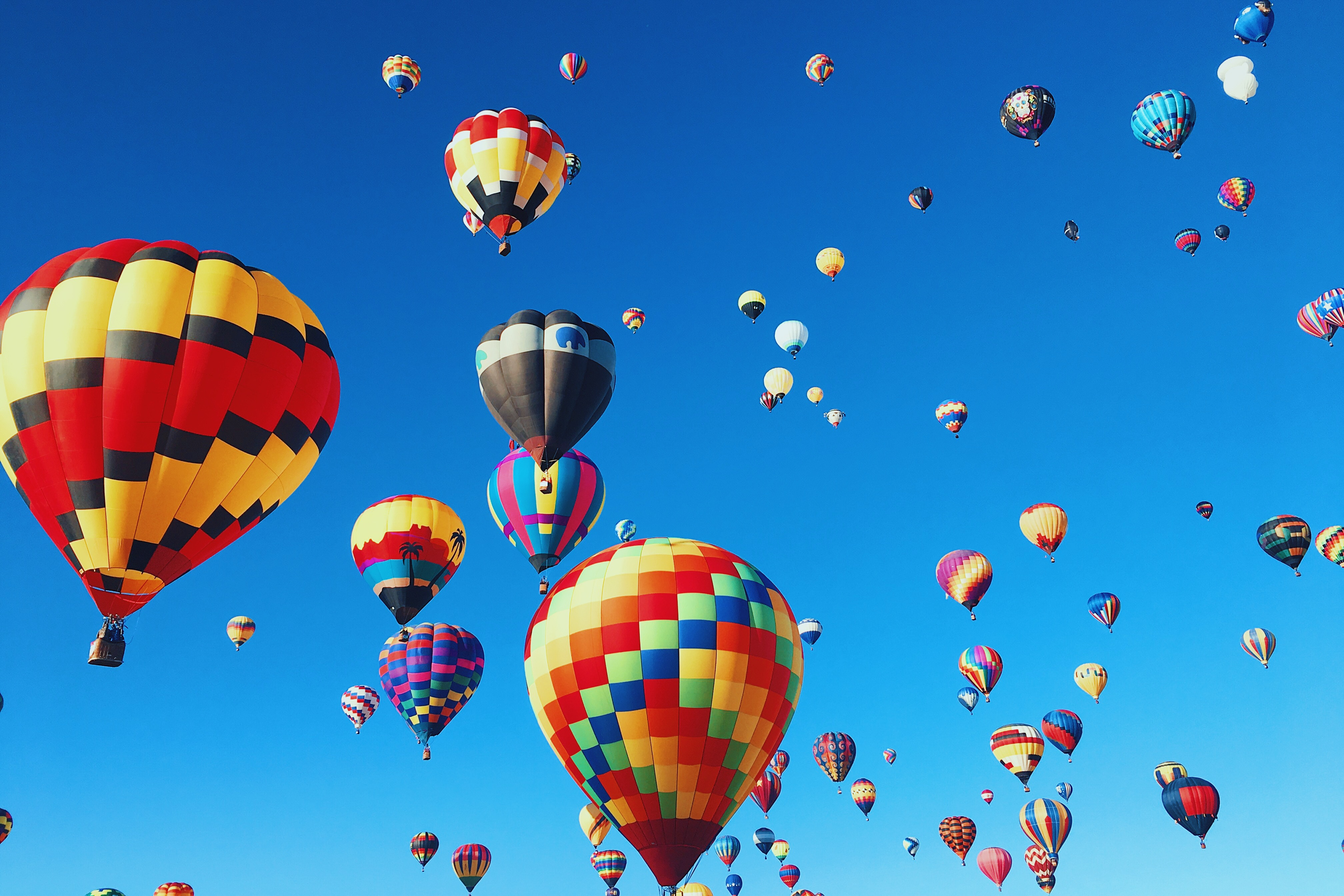 Hot Air Balloons blue skies sky hot air balloon festival 15 Romantic Travel Gift Ideas for Valentine's Day