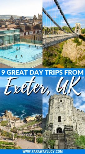 9 Great Day Trips from Exeter You Can't Miss. Exeter day trips. England, UK. Day trips from Devon. Day trips from Exeter Devon. Day trips from Exeter UK. Day trips from Exeter by train. Day tours from Exeter. Day tours from Exeter UK. Coach day trips from Exeter. Things to do in Exeter. Things to see in Exeter. Things to do in Devon. Exeter travel blog. Exeter travel guide. Bath. Bristol. Cardiff. Plymouth. English Riviera. Jurassic Coast. Dartmoor National Park. Cornwall. Click through to read more...