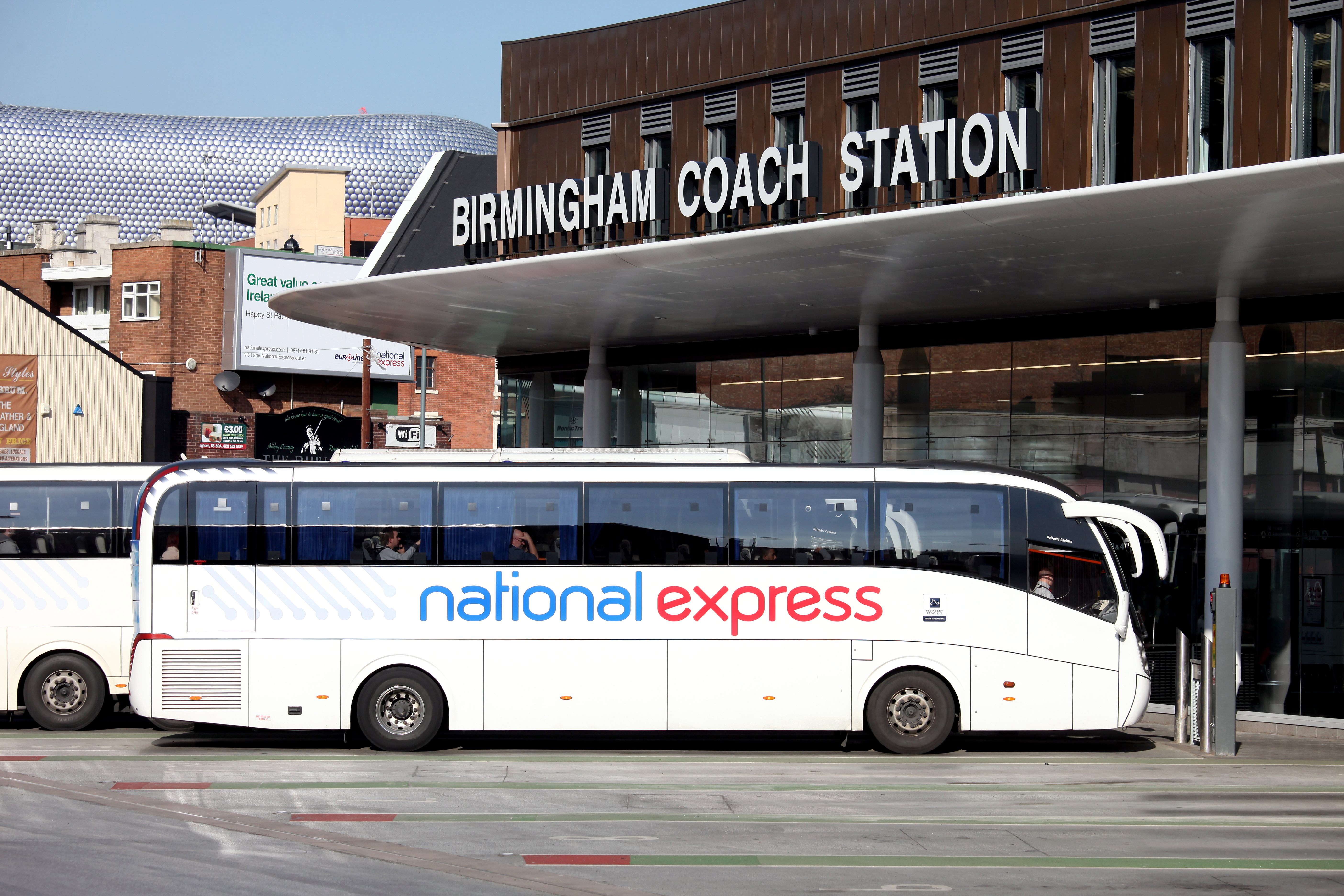 National Express Coach Bus Birmingham Coach Station Coach Parked Bullring Shopping Centre 10 Best Tips to Make a Long Distance Relationship Work. Long distance relationship tips. Long distance relationship advice. Click through to read more...