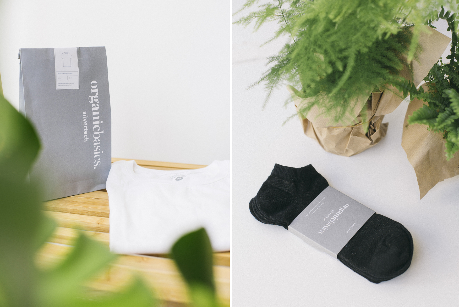 Organic Basics Silvertech clothing. Tee shirt and pair of socks. Plants on white background. 27 Best Eco-Friendly Travel Products That Will Change Your Life. Eco friendly products for sustainable travel. Eco-friendly products. Earth friendly products. Travel accessories. Eco friendly bags. Eco friendly travel bags. Eco friendly gifts. Eco friendly clothing. Eco friendly water bottles. Ethical travel. Responsible travel. Eco friendly holidays. Eco friendly tourism. Eco friendly hotels. Eco friendly vacations. Sustainable tourism. Ecotourism. Sustainable holidays. Eco travel. Click through to read more...