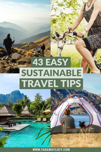 43 Easy Sustainable Travel Tips That Will Save the World. How to be a sustainable traveller. Sustainable tourism. Sustainable travel companies. Sustainable holidays. Sustainable transportation. Eco travels. Eco travel. Green travel tips. Green tourism. Responsible tourism. Responsable travel tips. Eco friendly travel tips. Sustainable ecotourism. Sustainable tourism destinations. Sustainable tourism practices. Ecotourism travel. Click through to read more... #travel #sustainability #sustainable #sustainabletravel