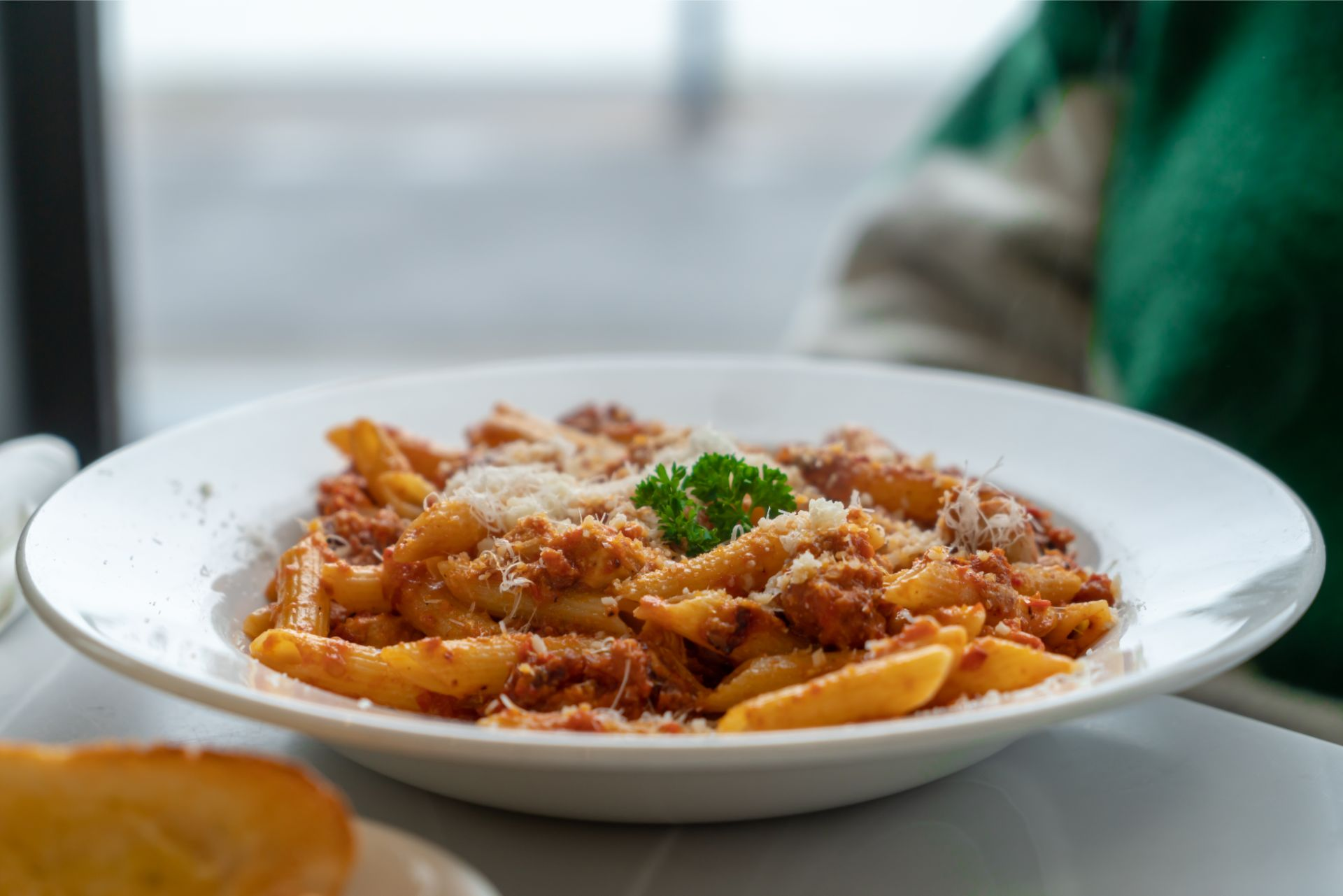 spicy-chicken-pasta-in-bowl-lunch-at-verdis-mumbles-swansea-bay-wales
