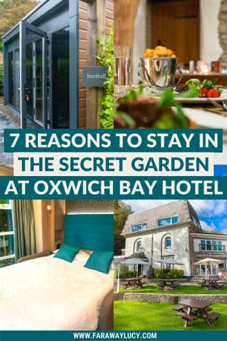 7 Reasons to Stay in the Secret Garden at Oxwich Bay Hotel. Oxwich Bay Hotel Secret Garden. Gower Peninsula. Swansea Bay. Wales UK. Glamping pods. Glamping pods interior. Glamping pods design. Glamping UK. Glamping Wales. Wales England. Wales travel. Wales holiday. Wales travel. Click through to read more...