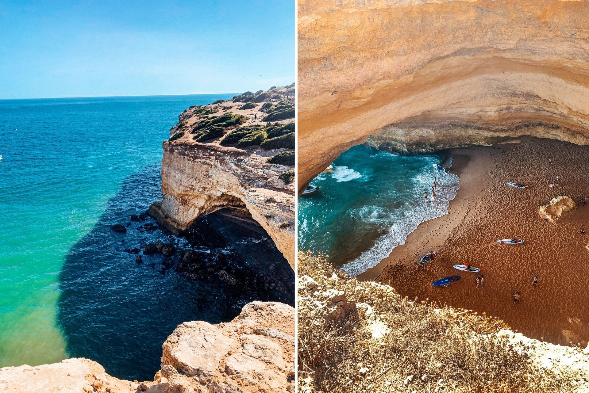 crystal-clear-turquoise-seas-and-cliffside-on-the-algarve-coast