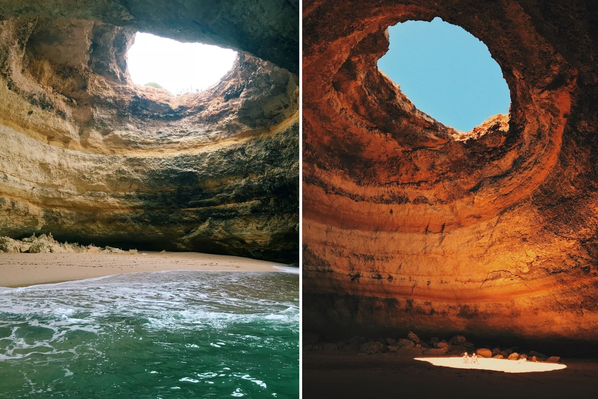 sea-and-sandy-beach-inside-cavern-with-open-light-filled-dome-benagili-cave-portugal