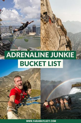 Adrenaline Junkie Bucket List: 17 Things You Need to Try. Adrenaline junkie activities. Adrenaline activities. Adrenaline junkie things to do. Adrenaline rush ideas Adrenaline bucket lis. Extreme bucket list ideas. Thrill seekers bucket list. Thrill seeking experiences. Click through to read more...