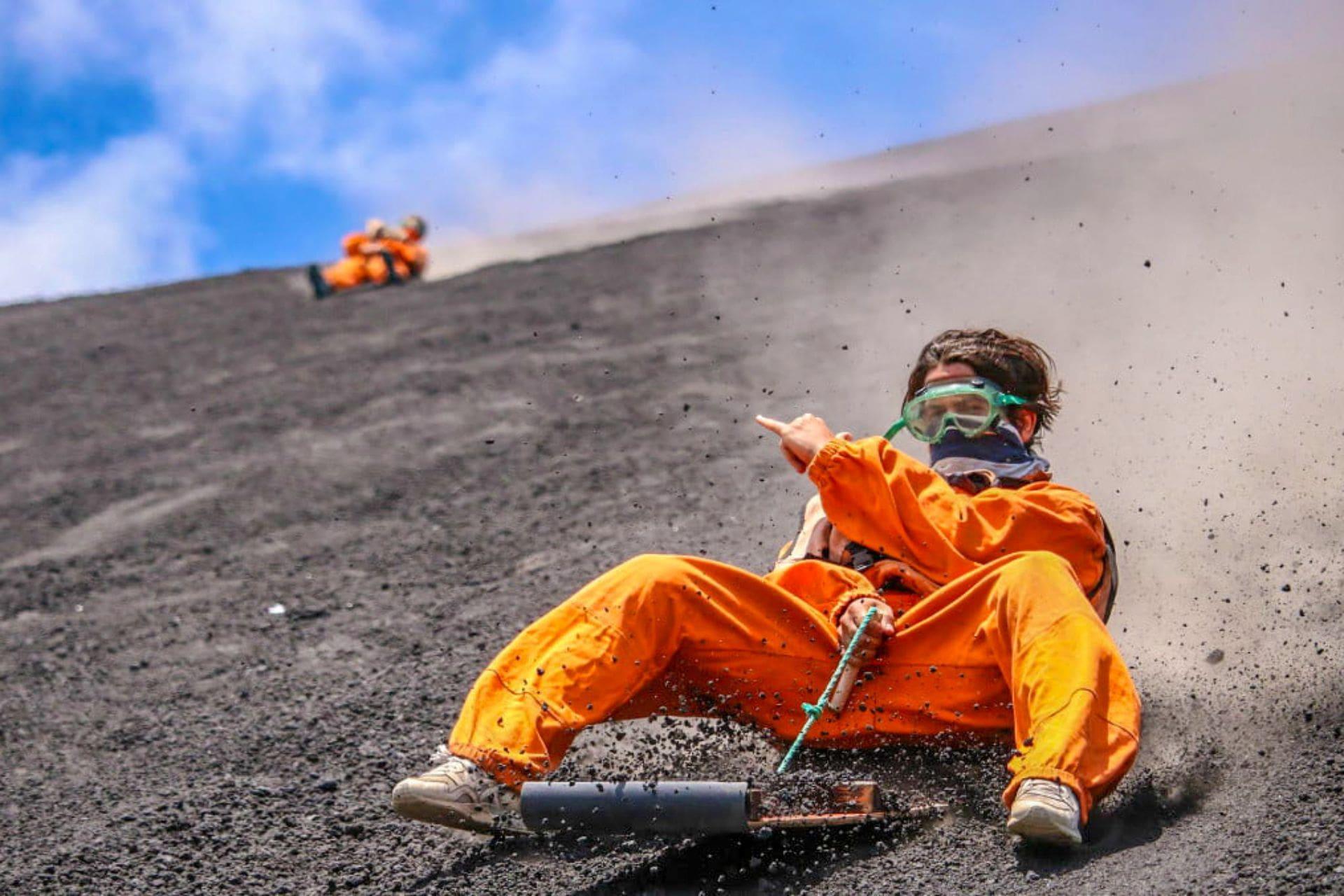 man-volcano-boarding-down-volcano-in-nicaragua