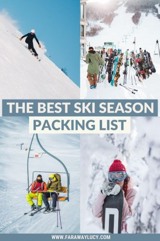 The Best Ski Season Packing List: 54 Items You Need to Pack. From must-have clothing to homely creature comforts, this skiing packing list will show you the 54 items you cannot leave home without. Click through to read more...