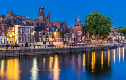 buildings-lining-the-river-ouse-at-sunset-romantic-things-to-do-in-york-for-couples