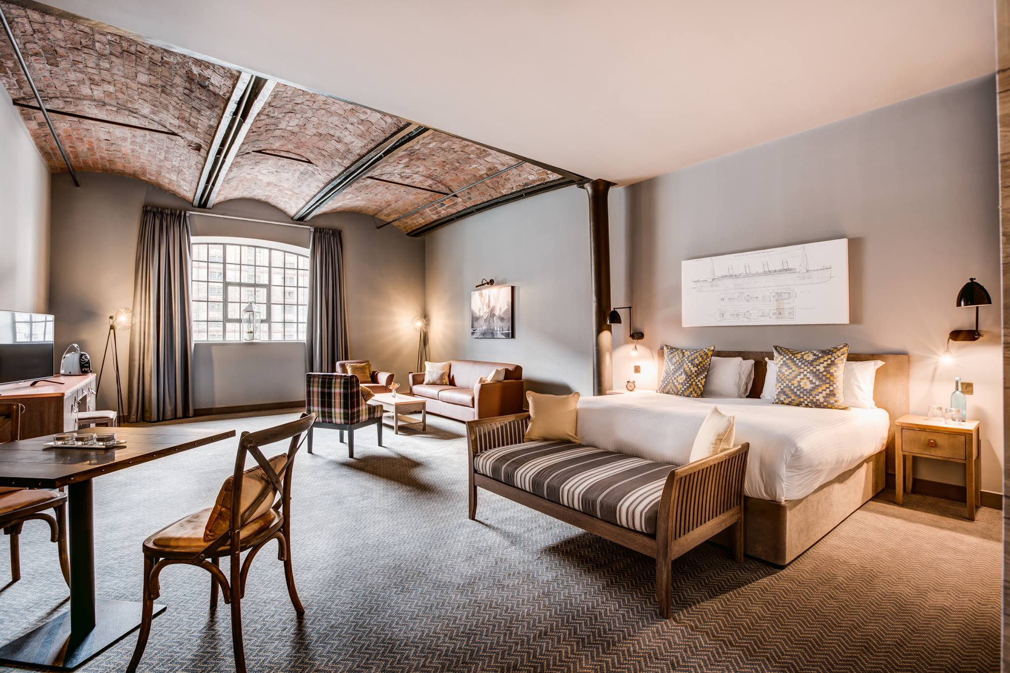 large-rustic-but-luxury-warehouse-hotel-bedroom-suite-at-titanic-hotel-weekend-in-liverpool-itinerary