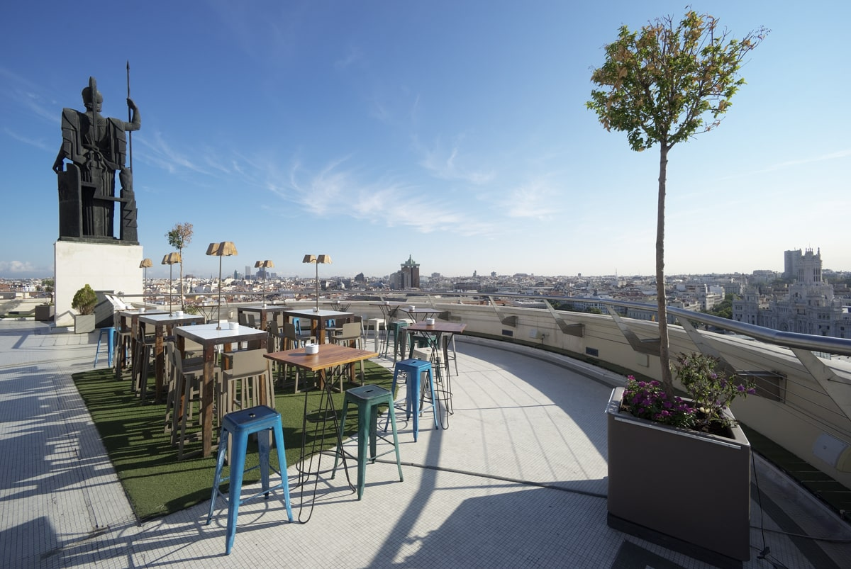 tables-on-rooftop-bar-with-views-across-madrid-city-on-a-sunny-day-at-círculo-de-bellas-artes-madrid-in-2-days-itinerary