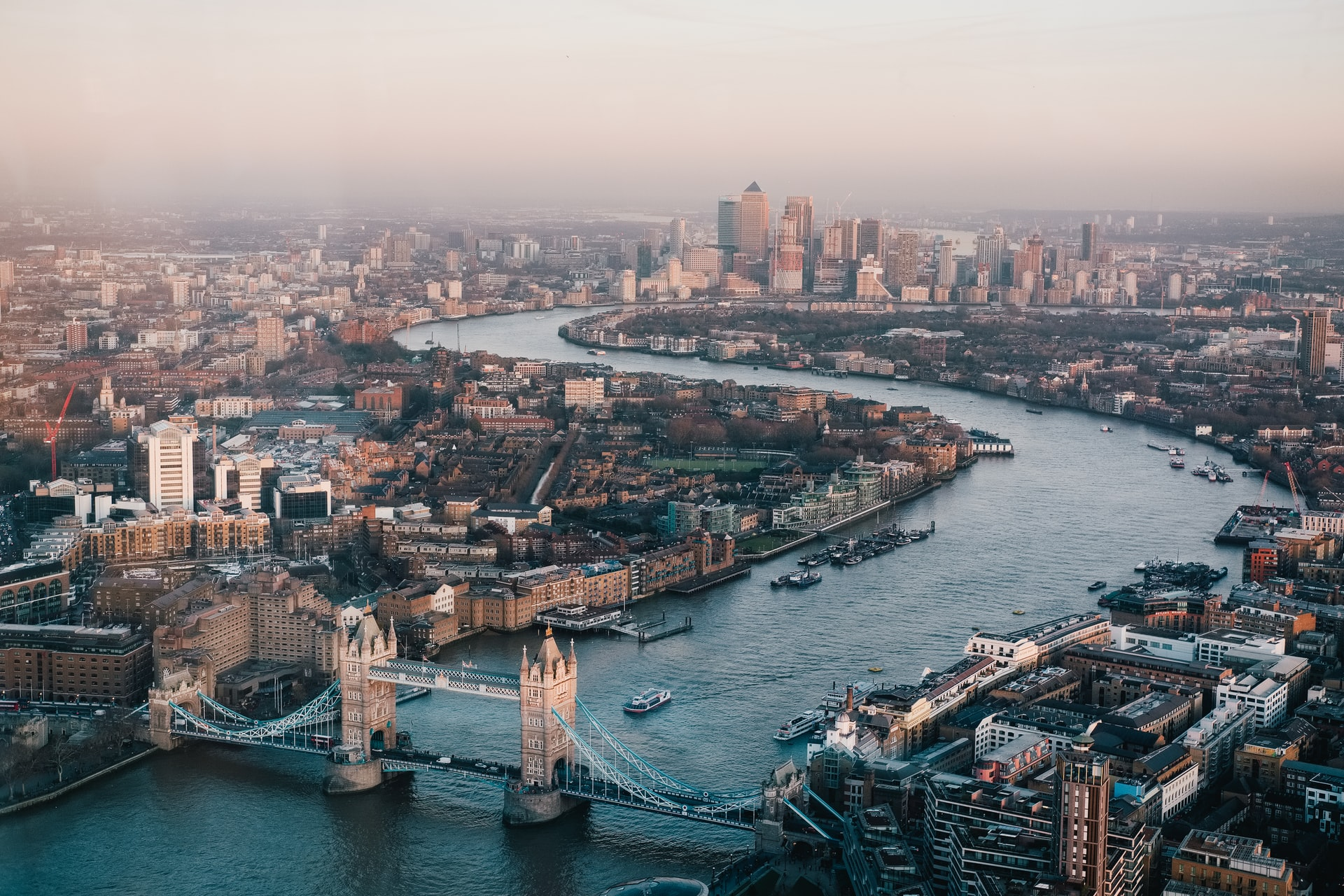 view-of-tower-bridge-thames-and-london-city-from-above-at-sunset