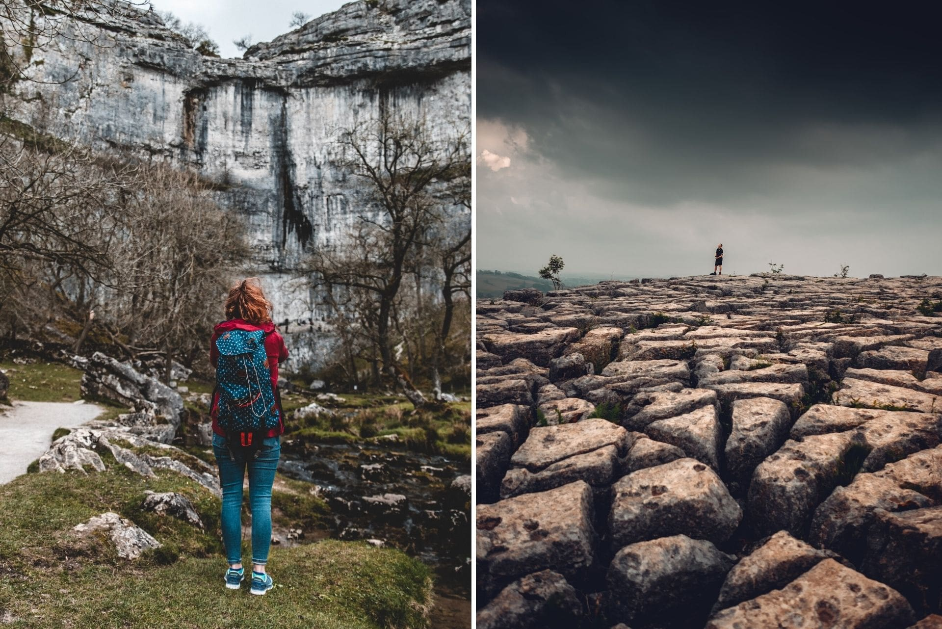 woman-with-backpack-looking-up-to-malham-cove