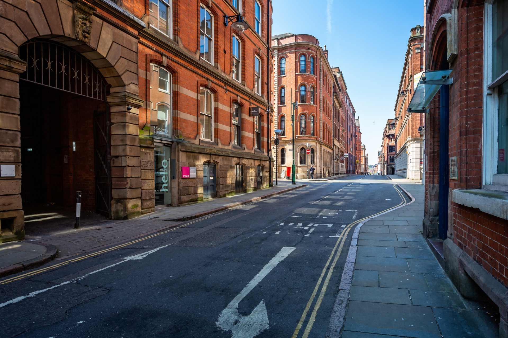 city-centre-street-with-orange-buildings-the-lace-market