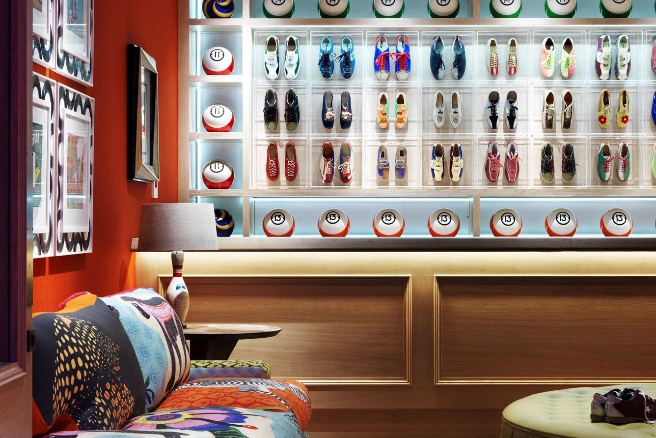 colourful-bowling-alley-reception-at-ham-yard-hotel