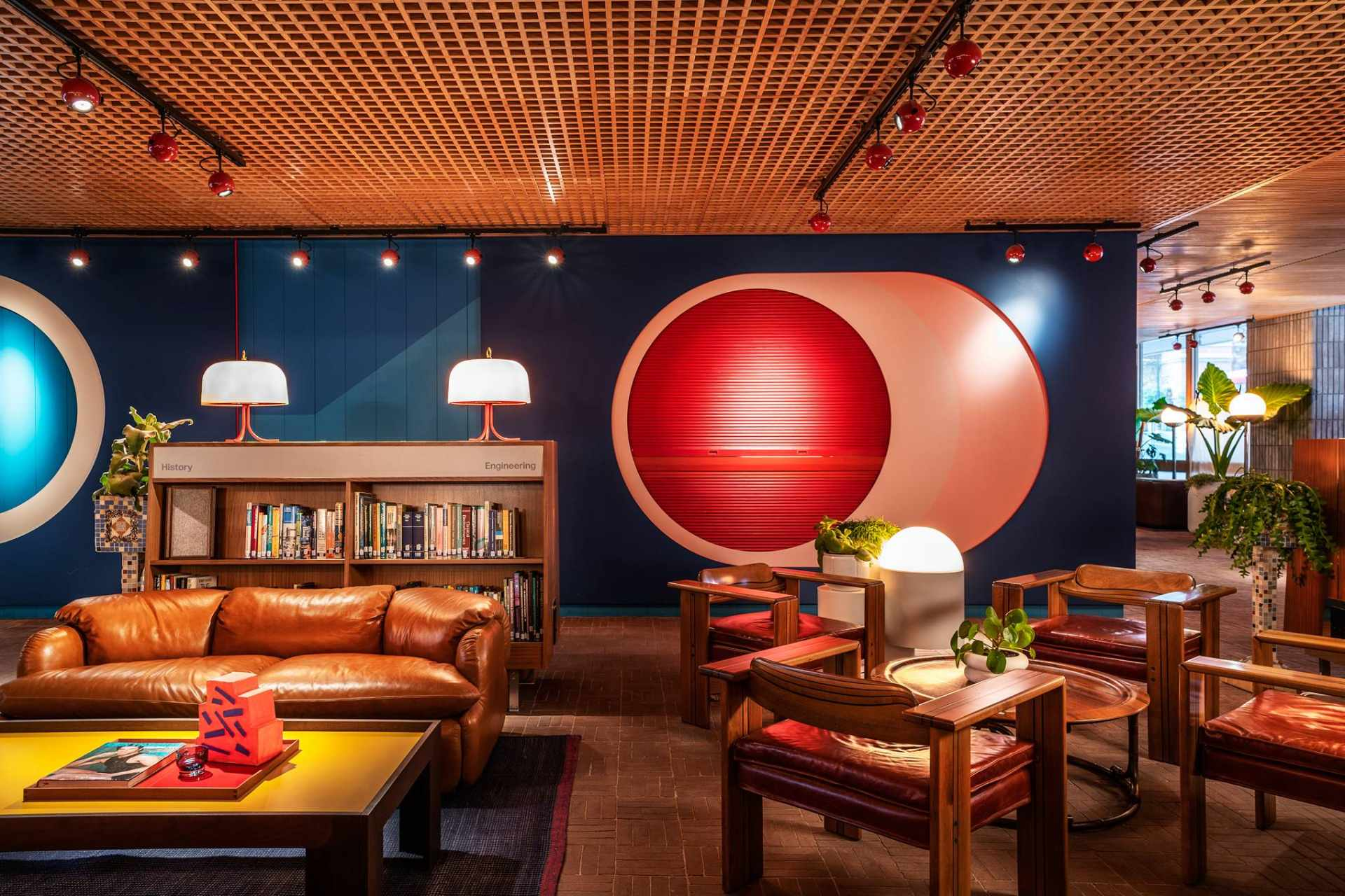 colourful-library-lounge-in-the-standard-hotel-quirky-london-hotels