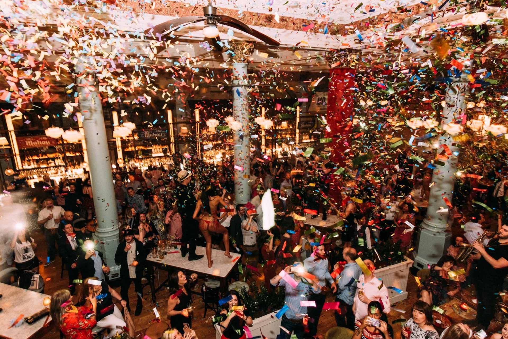 streamers-coming-from-ceiling-at-party-at-restaurant-revolucion-de-cuba