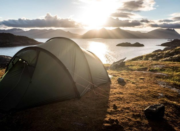 tent-camping-by-sea-in-norway-wild-camping-kit-list