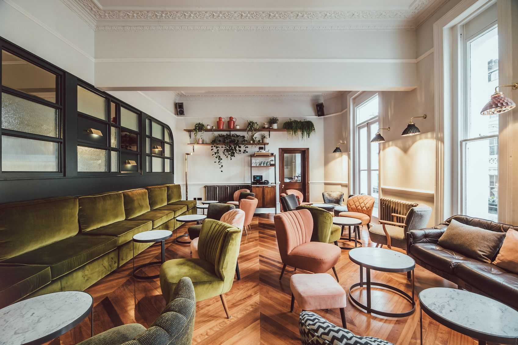 the-pilgrm-lounge-with-sofas-chairs-and-tables-quirky-london-hotels