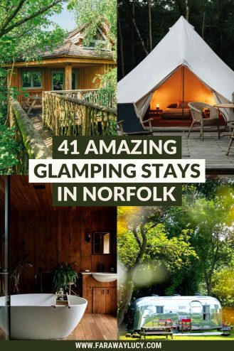 Glamping Norfolk: 41 Amazing Places You Need to Stay At. Looking for some amazing Norfolk glamping holidays to go on? Well, you've come to the right place. Click through to discover Norfolk's most quirky accommodation...