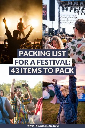 The Best Packing List for a Festival: 43 Items You Need to Pack. Heading to a festival soon? Make sure you don't leave home without these 43 festival camping essentials! Click through to read more...