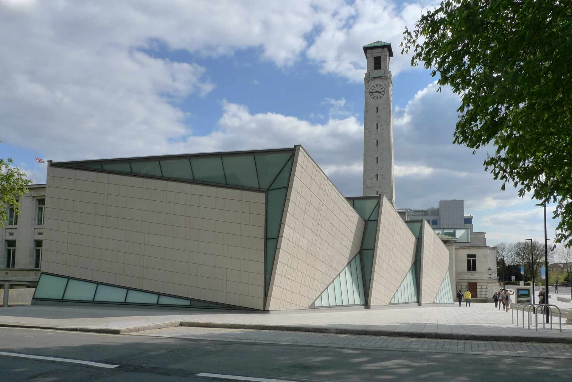 exterior-of-seacity-museum-with-clocktower-on-sunny-day