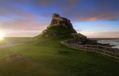 lindisfarne-castle-at-sunset-on-holy-island-best-places-to-visit-in-northumberland