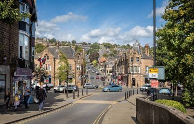 people-walking-around-matlock-town-centre-on-sunny-day