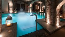 underground-cave-spa-with-blue-pool-and-lanterns-titanic-hotel-date-ideas-liverpool