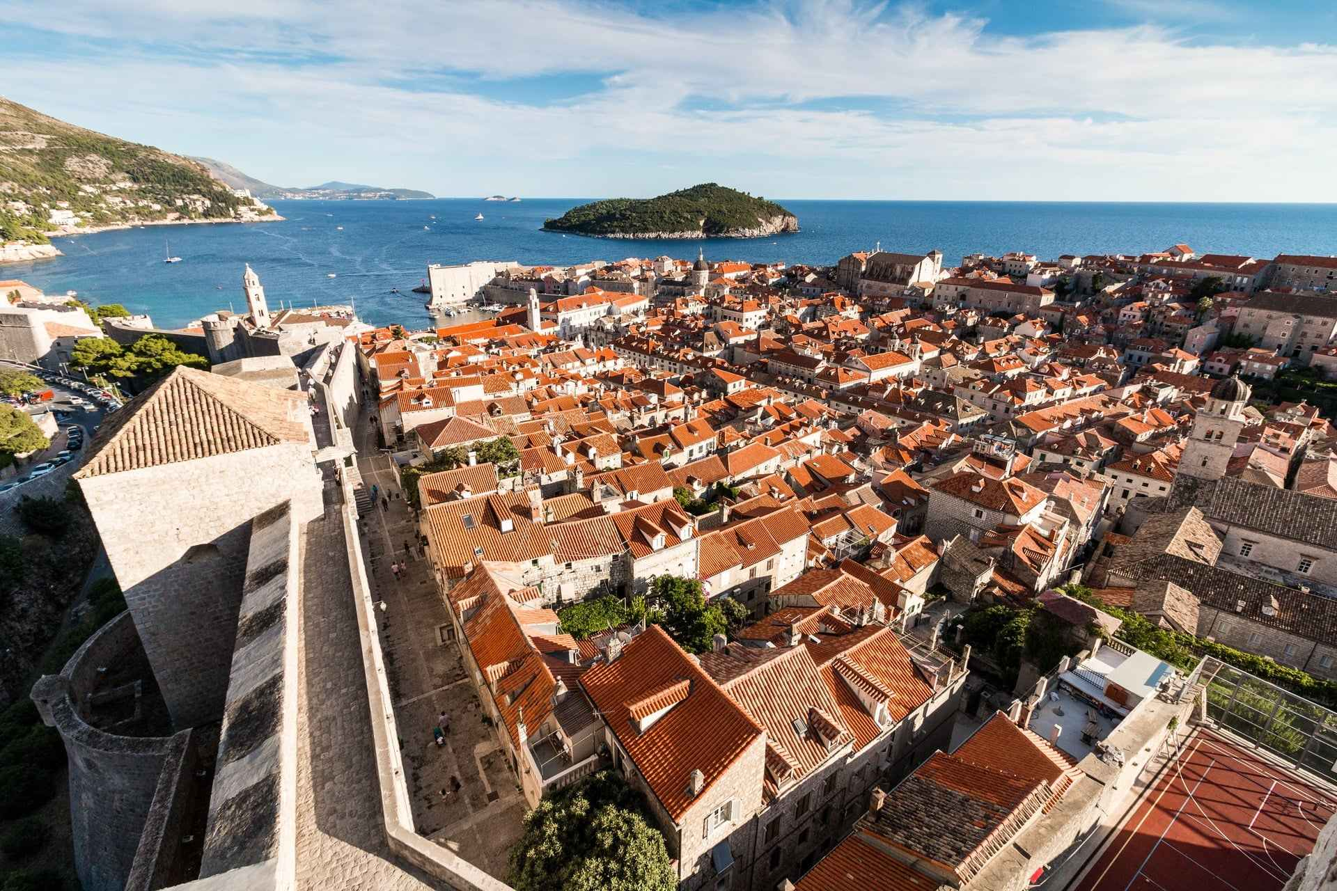 view-of-orange-roofs-of-dubrovnik-and-the-sea-from-the-city-walls-3-days-in-dubrovnik-itinerary